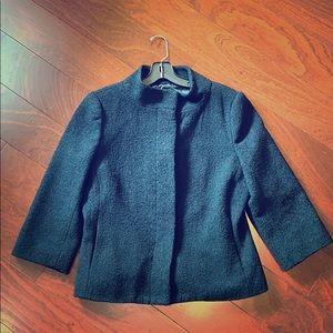 Black 3/4 sleeve Isaac Mizrahi jacket
